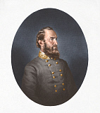 STK500368A © Stocktrek Images, Inc. Portrait of Thomas Stonewall Jackson wearing a black tunic.