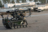 ACH100547M © Stocktrek Images, Inc. A remote controlled vehicle used to inspect improvised explosive devices.
