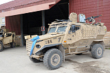 ACH100623M © Stocktrek Images, Inc. A British Force Protection Ocelot armored patrol vehicle.