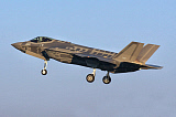 DFC100342M © Stocktrek Images, Inc. An Israeli Air Force F-35I Adir prepares for landing.