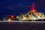 GCA100700M © Stocktrek Images, Inc. Turkish Army AH-1 Cobra helicopter on a night mission.