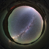 JFD200024S © Stocktrek Images, Inc. The arc of Milky Way and zodiacal light over Yamdrok Lake, Tibet, China.