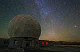 JFD200035S © Stocktrek Images, Inc. The Milky Way over the Delinha observatory in China.
