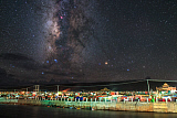 JFD200043S © Stocktrek Images, Inc. The entral bugle of the Milky Way over Yaqing monastery in China.