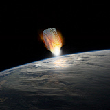 MRC200133S © Stocktrek Images, Inc. A massive asteroid enters Earth's atmosphere moments before impact with the planet.