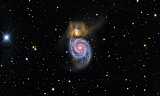 RCM200046S © Stocktrek Images, Inc. The Whirlpool Galaxy and its companion galaxy NGC 5195.