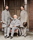 STK500344A © Stocktrek Images, Inc. Robert E. Lee with eldest son and aide.