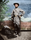 STK500347A © Stocktrek Images, Inc. Confederate Army Colonel John S. Mosby during the American Civil War.