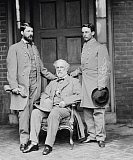 STK500356A © Stocktrek Images, Inc. Robert E. Lee with eldest son and aide.