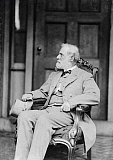 STK500357A © Stocktrek Images, Inc. Confederate Army General Robert E. Lee sitting in chair.