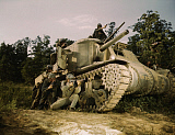 STK500441A © Stocktrek Images, Inc. June 1942 - M3 tank and crew using small arms, Fort Knox, Kentucky.