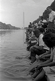 STK501140A © Stocktrek Images, Inc. Demonstrators sit along the Reflecting Pool during the March on Washington, 1963