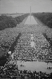 STK501156A © Stocktrek Images, Inc. Crowds of people gather on the National Mall for Martin Luther King's speech, 1963.