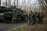 VWP100285M © Stocktrek Images, Inc. Military exercise of the Dutch Army in the Netherlands.