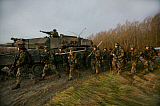 VWP100288M © Stocktrek Images, Inc. Military exercise of the Dutch Army in the Netherlands.