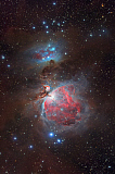 YZV200019S © Stocktrek Images, Inc. Messier 42, The Great Nebula in Orion and NGC 1977, The Running Man Nebula.