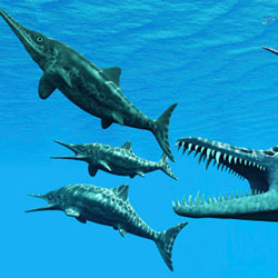 AQUATIC DINOSAURS Stock Photos and Pictures