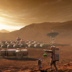 FUTURISTIC SPACE TRAVEL Stock Photos and Pictures
