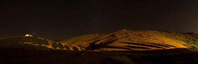 AAM200005S © Stocktrek Images, Inc. Starry night sky and green shadows, Zanjan Province, Iran.