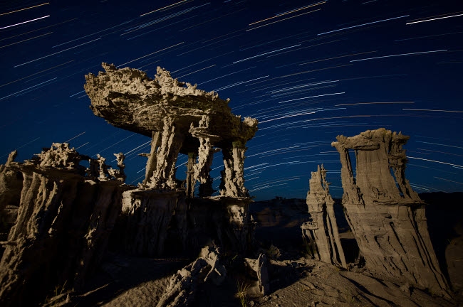 BRR200026S © Stocktrek Images, Inc. Incricate sand tufa formations along the shores of Mono Lake, California.