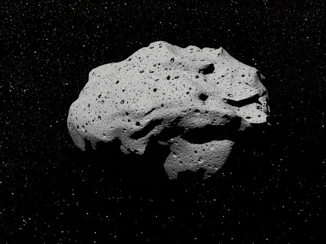 EDV200031S © Stocktrek Images, Inc. Illustration of an asteroid in outer space.