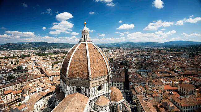 EVK200233S © Stocktrek Images, Inc. Piazza del Duomo with Basilica of Saint Mary of the Flower, Florence, Italy.