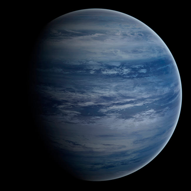 FHV100029S © Stocktrek Images, Inc. Artist's concept of a blue-white gas giant planet.