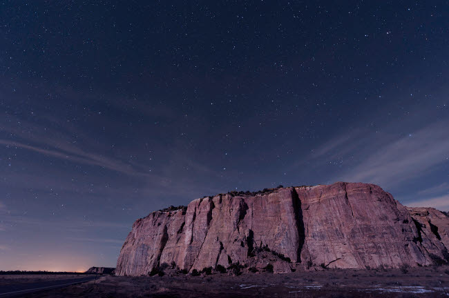 JDA100018S © Stocktrek Images, Inc. Big Dipper over the large mesa in El Malpais National Monument.