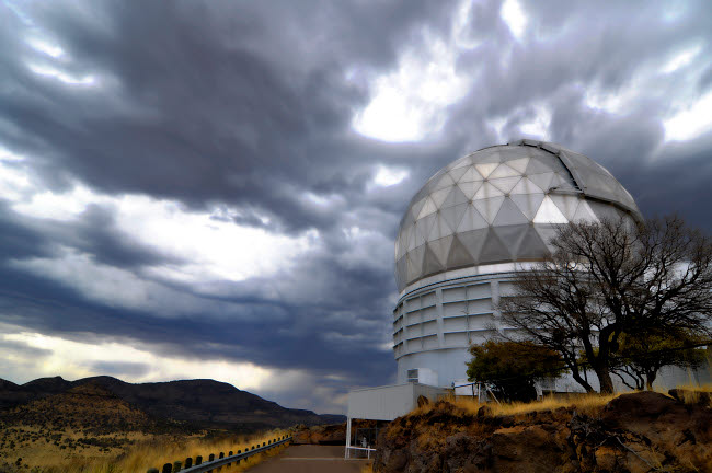 JON100024S © Stocktrek Images, Inc. Hobby-Eberly Telescope observatory dome at McDonald Observatory.