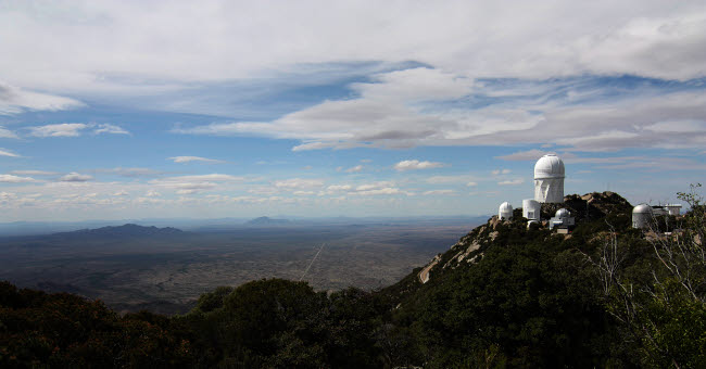 JON100025S © Stocktrek Images, Inc. Kitt Peak Observatory domes and surrounding area.