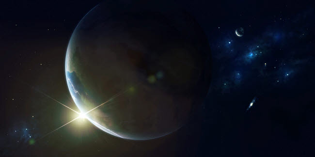 KAF100027S © Stocktrek Images, Inc. Upsilon is another sun like our own with a planet that lies within the habitable zone.
