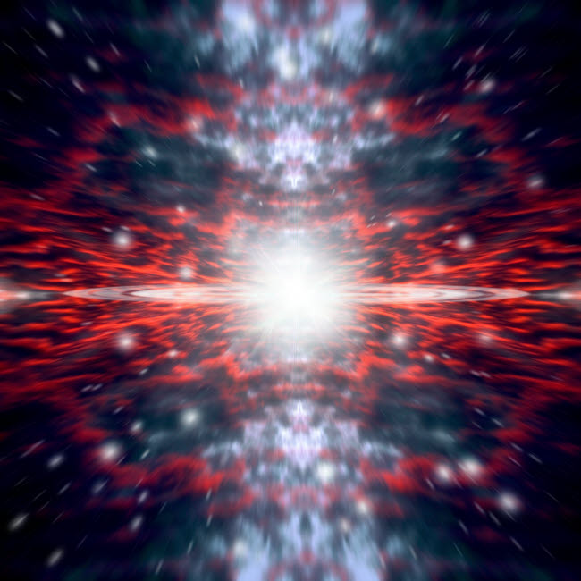 MRC200002S © Stocktrek Images, Inc. An artist's depiction of the Big Bang that created space and time.