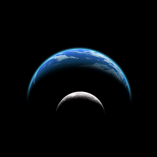 MRC200011S © Stocktrek Images, Inc. An artist's depiction of a large planet covered by oceans with a thick atmosphere.