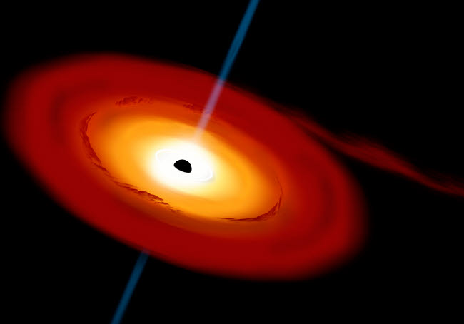 MRC200014S © Stocktrek Images, Inc. Artist's depiction of a black hole and it's accretion disk in interstellar space.