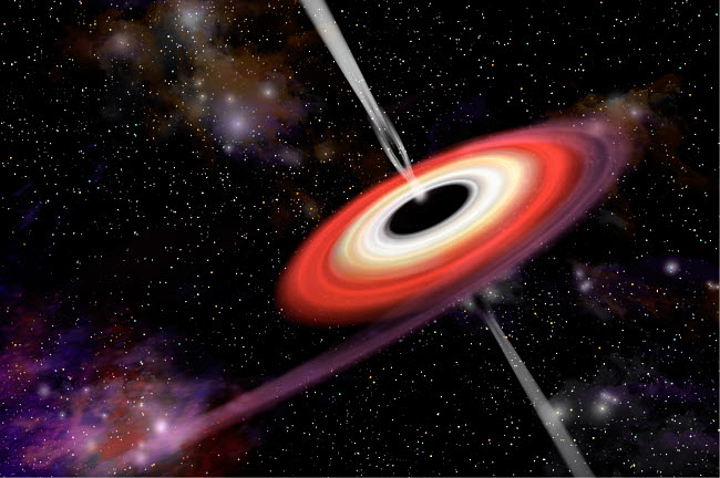 MRC200026S © Stocktrek Images, Inc. Artist's depiction of a black hole and it's accretion disk in interstellar space.