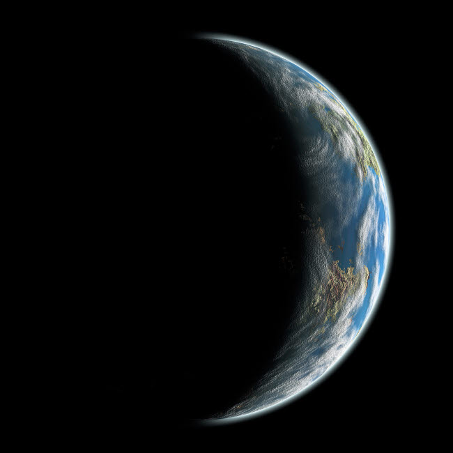 MRC200027S © Stocktrek Images, Inc. An artist's depiction of an Earth-like planet alone in space.