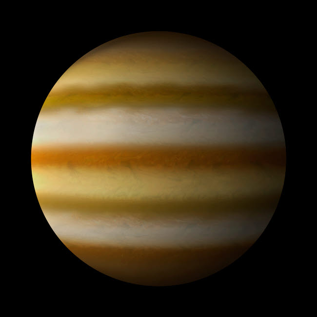 MRC200044S © Stocktrek Images, Inc. Artist's depiction of a gas giant planet alone in black space.