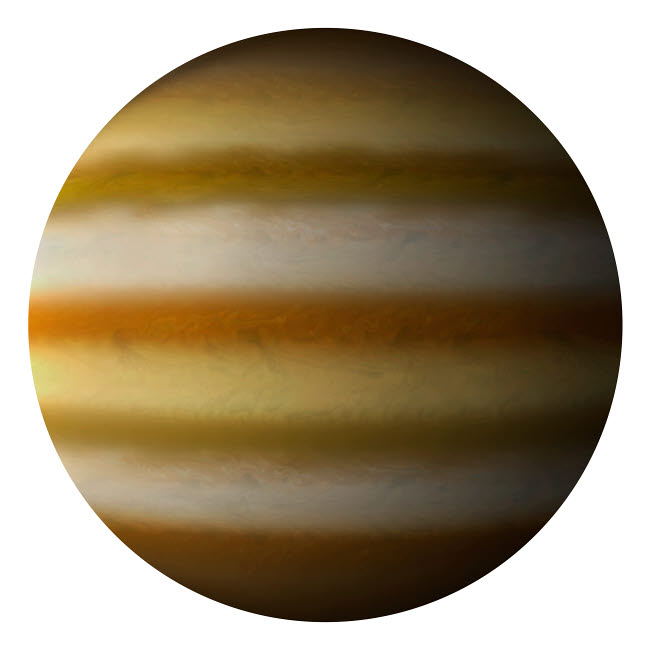 MRC200045S © Stocktrek Images, Inc. Artist's depiction of a gas giant planet on a white background.