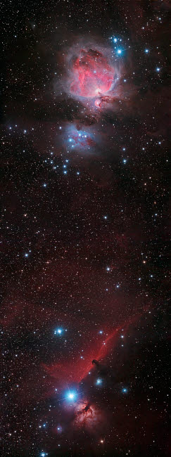 PHA100006S © Stocktrek Images, Inc. Mosaic of Orion Nebula and Horsehead Nebula.