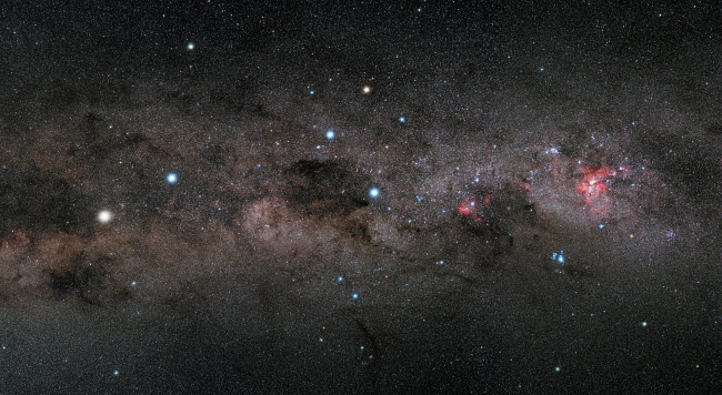 PHA100007S © Stocktrek Images, Inc. The Southern Cross and the Pointers in the Milky Way.