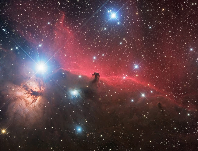 PHA100009S © Stocktrek Images, Inc. Horsehead Nebula and Flame Nebula in Orion.