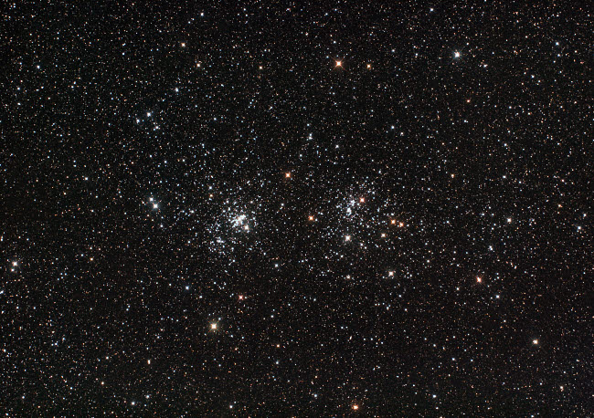 PHA100013S © Stocktrek Images, Inc. Double Cluster in Perseus (NGC 869 and NGC 884).