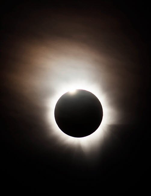 PHA100040S © Stocktrek Images, Inc. Solar Eclipse with diamond ring effect, Queensland, Australia.