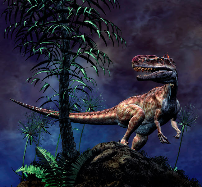 PHB600023P © Stocktrek Images, Inc. Monolophosaurus was a theropod dinosaur from the Middle Jurassic period.