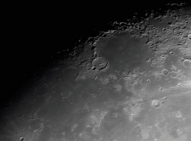 RGE100038S © Stocktrek Images, Inc. Close-up detail view of the moon.