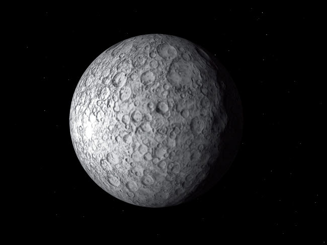 RMR100048S © Stocktrek Images, Inc. Artist's concept of Ceres, a large asteroid.
