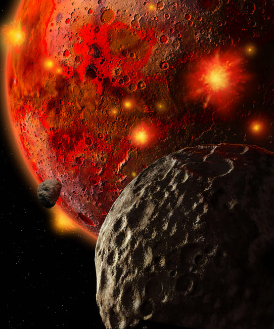 RMR100054S © Stocktrek Images, Inc. Asteroid Impacts on the Early Earth