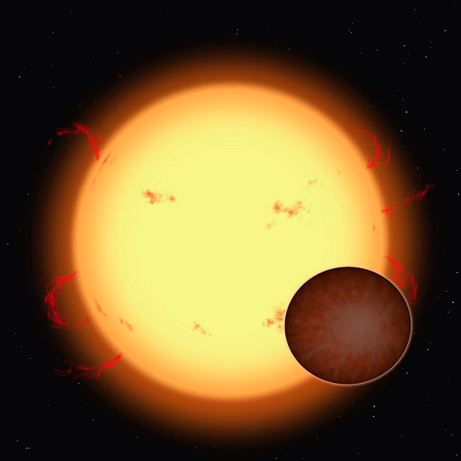 RMR100072S © Stocktrek Images, Inc. The extrasolar planet HD 209458 b passing in front of its star.