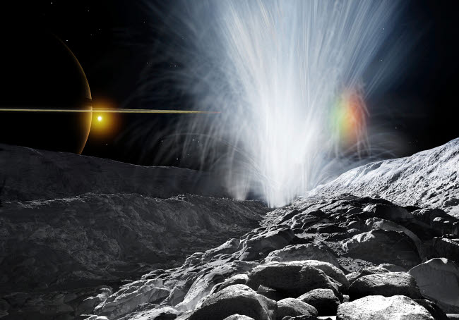 RMR100098S © Stocktrek Images, Inc. The Ice Fountains of Enceladus