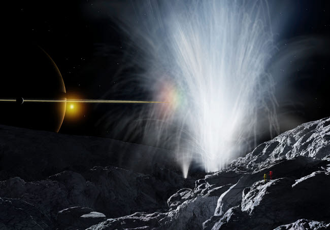 RMR100099S © Stocktrek Images, Inc. The Ice Fountains of Enceladus